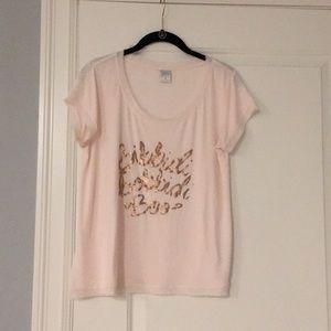 LC Lauren Conrad Disney Shirt M pink/rose gold